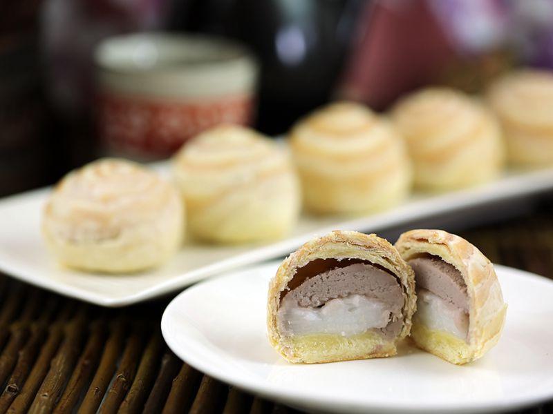 《中秋伴手禮》美味結緣-吉圓品紫薯芋頭酥